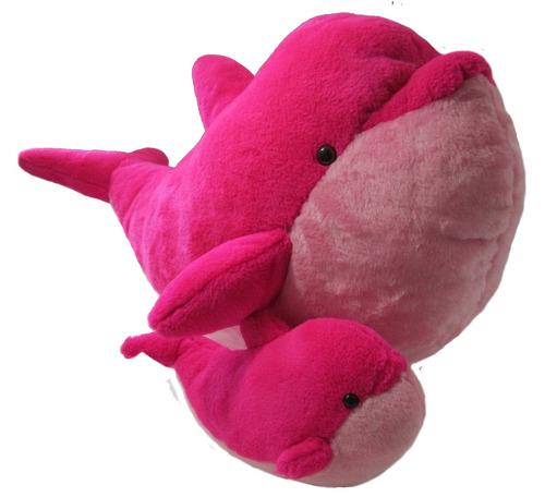 combo delfin rosado de peluche y felpa marca koala company