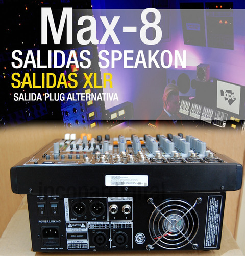 combo deluxe consola potencia+bafles15''+mic+auric+pie+cable