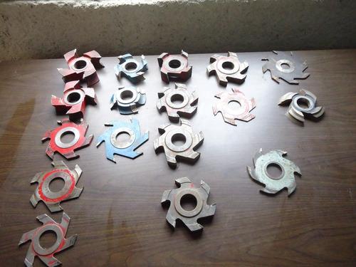 combo discos de corte y fresas, tal como están. 31 piezas.