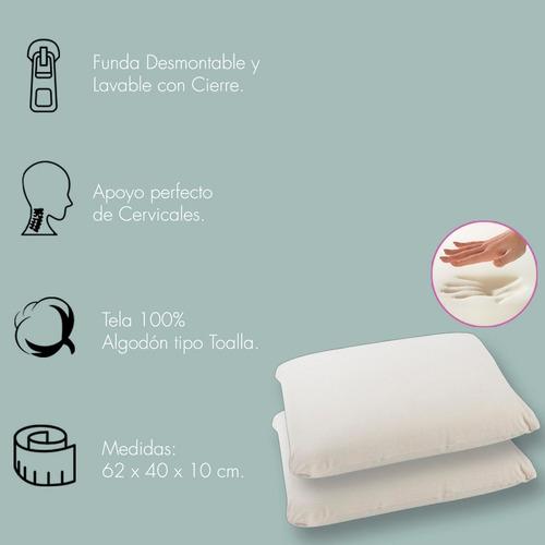 combo dos almohadas fiberball  viscoelasticas memoria