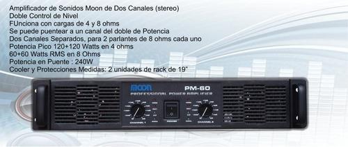 combo dos bafles amplificador stereo y consola con usb