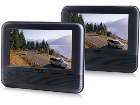 combo dvd doble pantalla de 7 lcd para cabecera de auto excelente!!!