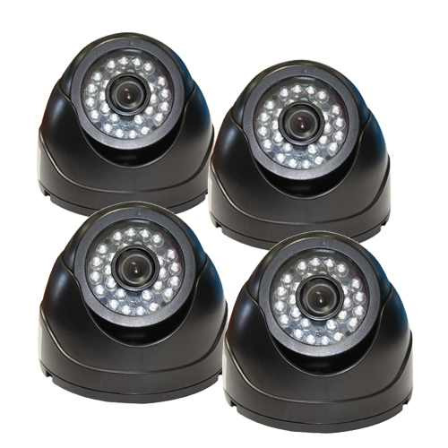 combo dvr video seguridad 500gb ip + 4 camaras espia ir 24/7