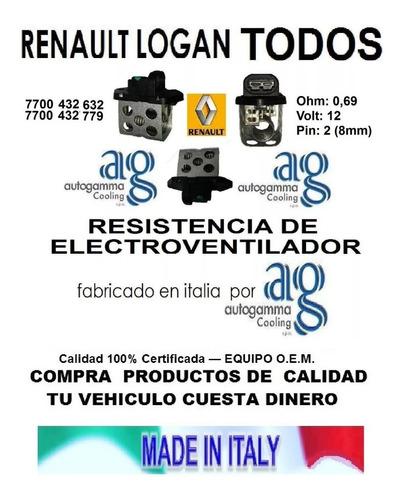 combo electroventila motor aspa + resistencia  renault logan