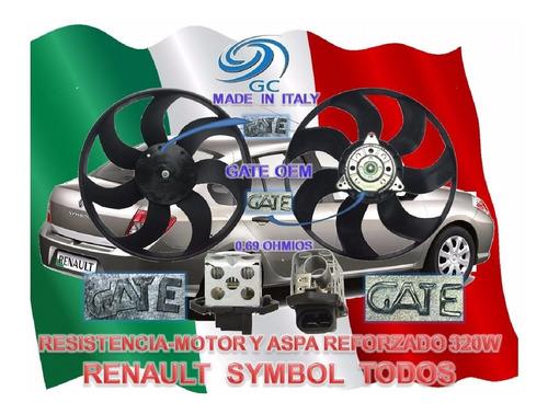combo electroventilador resistencia renault symbol todos g c