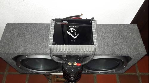 combo equipo de sonido para carro