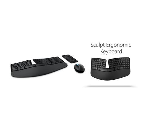 combo ergonomico teclado mouse microsoft sculpt inalambrico