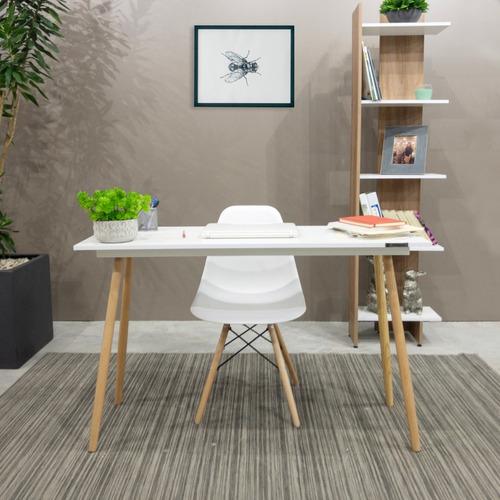 combo escritorio + silla + librero eames moderno oficina pc