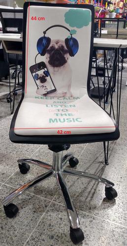 combo escritorio y silla moderno diseño perro pug keep calm