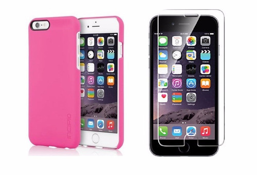 combo estuche incipio feather + vidrio templ. iphone 6