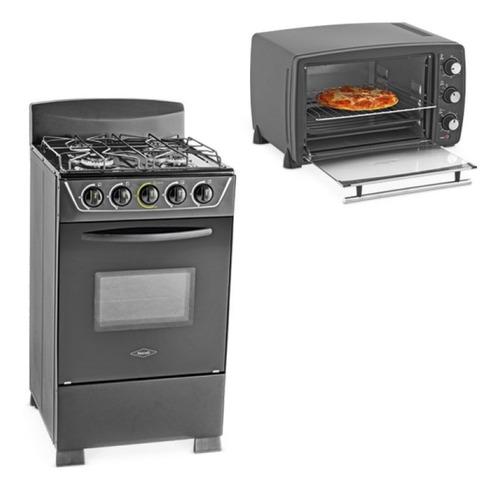 combo estufa haceb gas natural + horno eléctrico nex