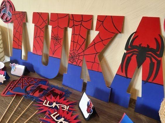 Combo Fiesta Decoración Spiderman Piñata Cotillón Hulk