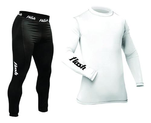 combo flash kit remera térmica + calza larga equipo térmico