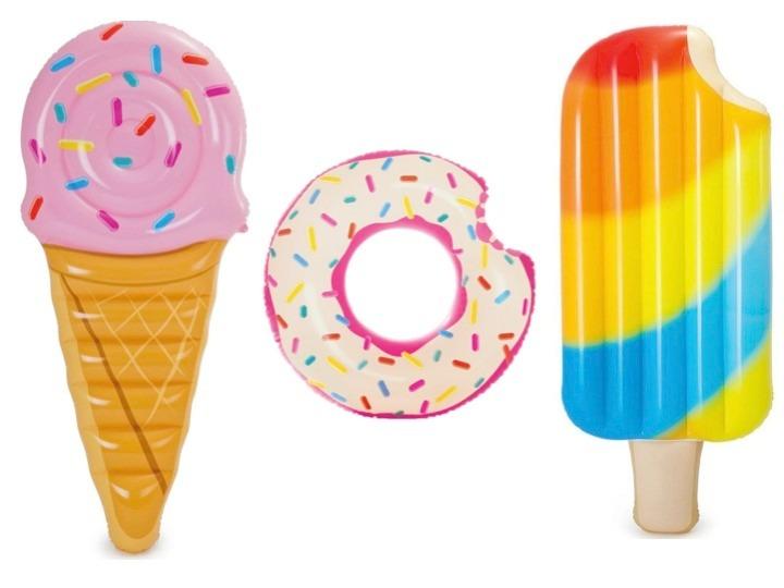 Combo flotador dona colchonetas helado paleta piscina for Colchonetas de piscina