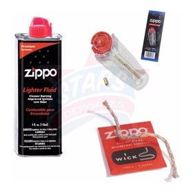 Combo Fluidozippo Combustible 4 Oz + 6 Piedras + Mecha