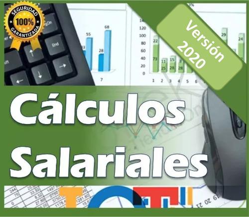 combo full rrhh cálculos salariales nómina lottt excel y más