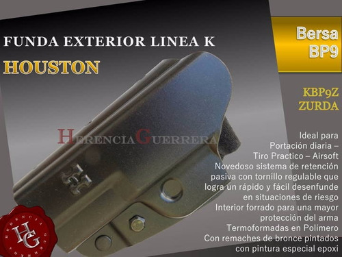 combo funda houston bersa bp9 zurda +porta simple monohilera