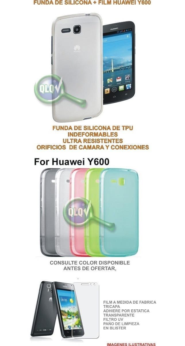 e6e21e1edfe Combo Funda Huawei Y600 De Silicona + Film De Pantalla - $ 65,00 en ...