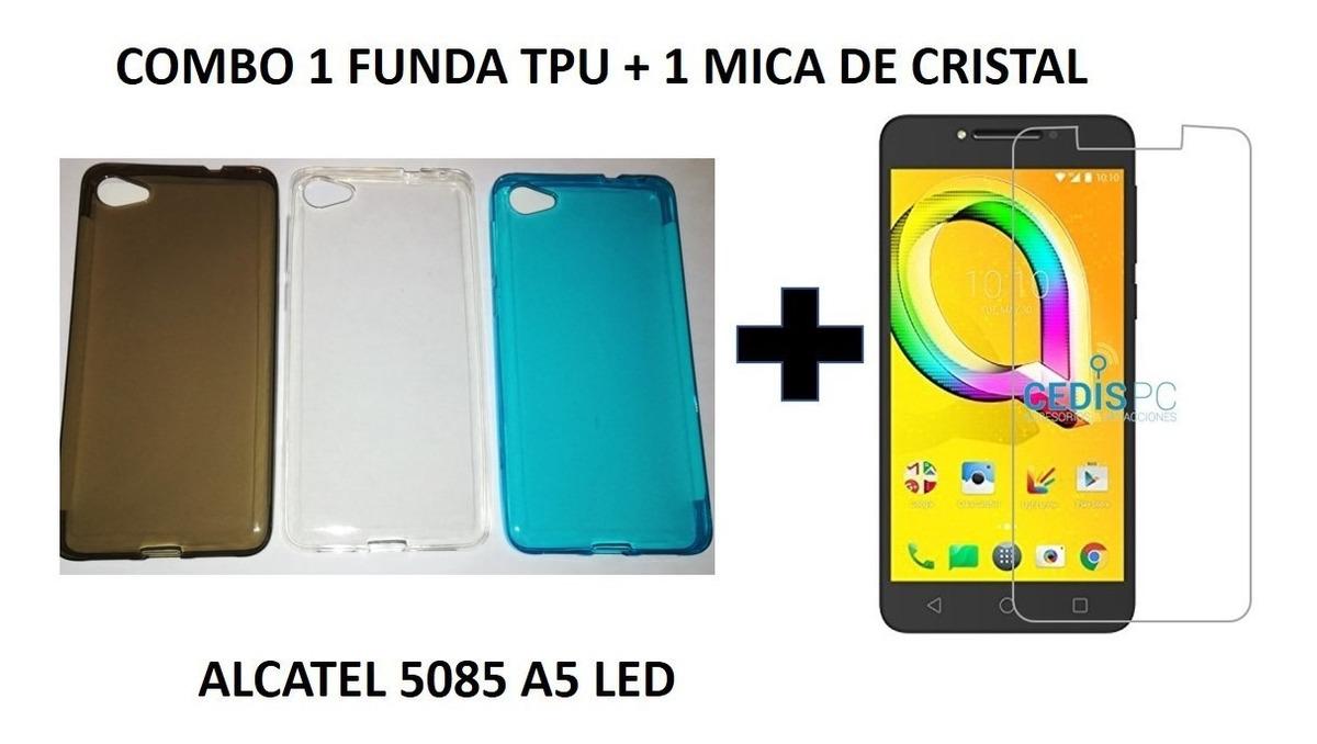 f28990a6bff Combo Funda Protector Tpu Alcatel 5085d Led A5 + Templado - $ 180.00 ...