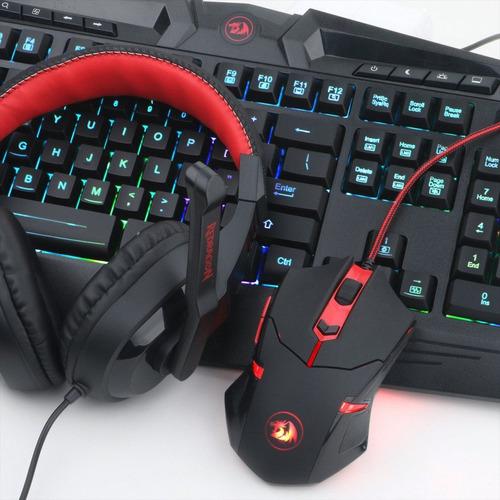combo gamer 4en1 redragon s101: teclado, mouse, pad, diadema