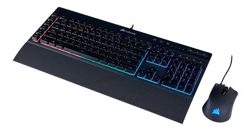 combo gamer corsair teclado k55 e mouse harpoon abnt2
