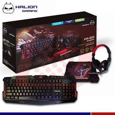 combo gamer halion escorpion 820