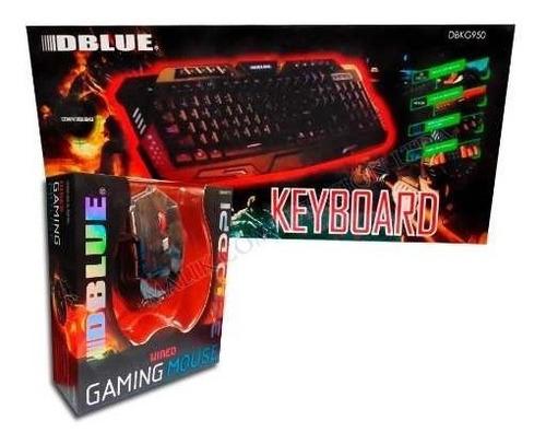 combo gamer teclado mouse retroiluminados usb nuevo