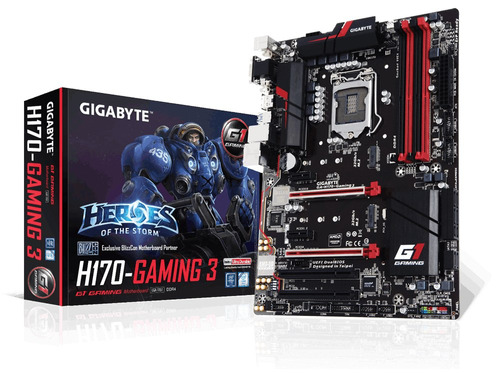 combo gamer upgrade intel core i5-6400 2.7 ghz+gigabyte h170