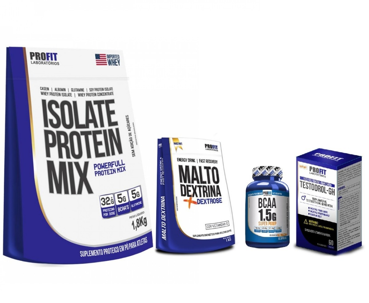 3c15ac5bc Combo Ganho De Massa - Proteína Isolada 1