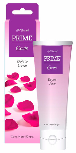combo gel prime x12 excite lubricante placer femenino 50gr