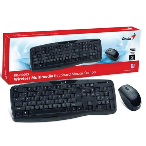 combo genius teclado+ mouse wireless kb-8000x