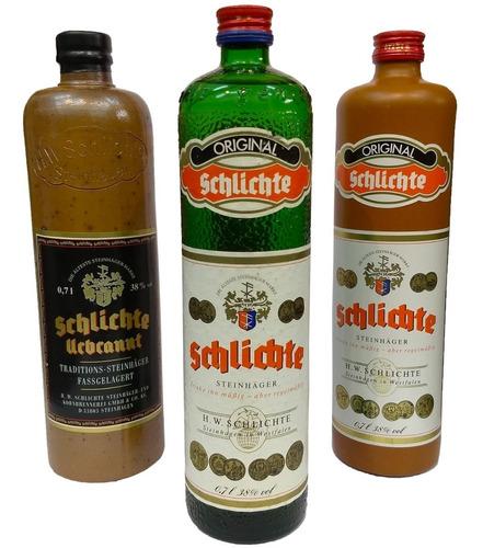 combo gin ginebra schlichte 3 botellas coleccionables