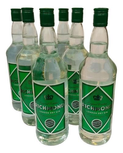 combo gin ingles richmond de litro 6 botellas importado
