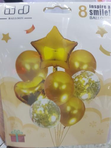 combo globos para fiesta globos latex metalizados 18 pulgada