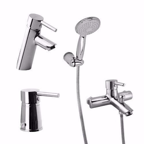 combo grifería baño hydros soul lavatorio bidet ducha exteri