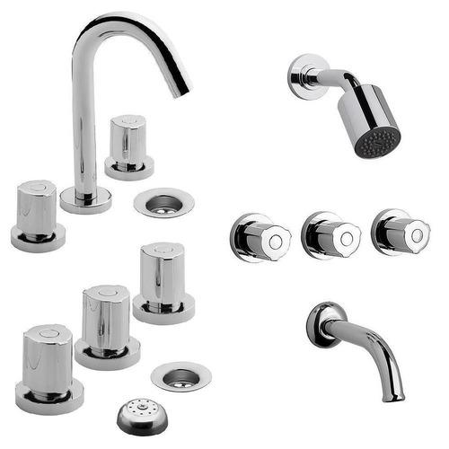 combo griferia fv baño completo radal lavatorio ducha bide