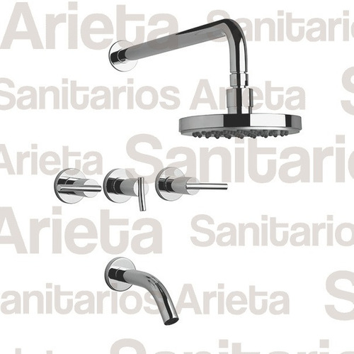 combo griferia fv libby lavatorio bide ducha + 428/39 cs1786