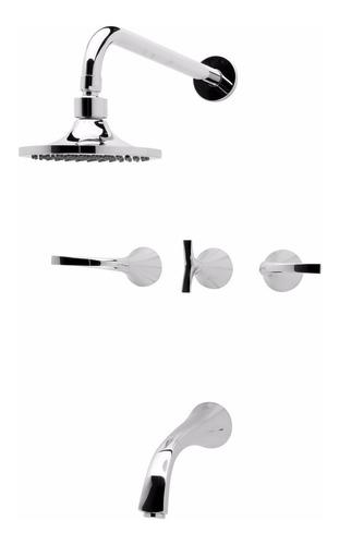 combo griferia fv linea alesia 49 lever ducha lavatorio bide