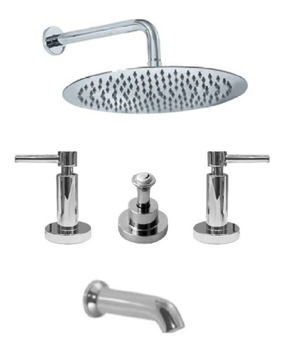 combo griferia hidromet net lavatorio+bidet y ducha oferta!