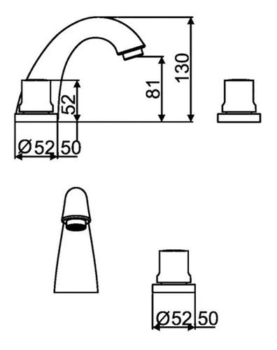 combo grifería hidromet spray lav bidet ducha ext transfer