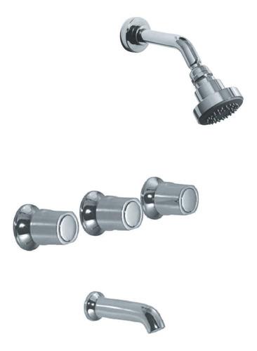 combo grifería hidromet spray lavatorio ducha embutir trans