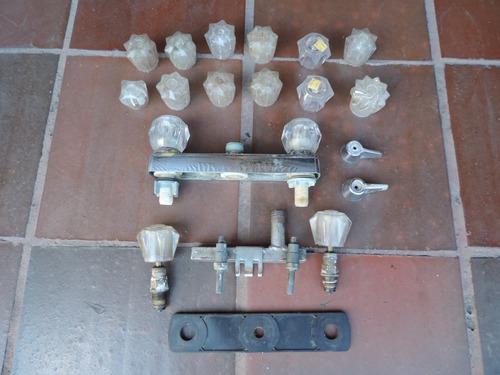 combo griferia lavaplatos mezcladores manijas tubo usado