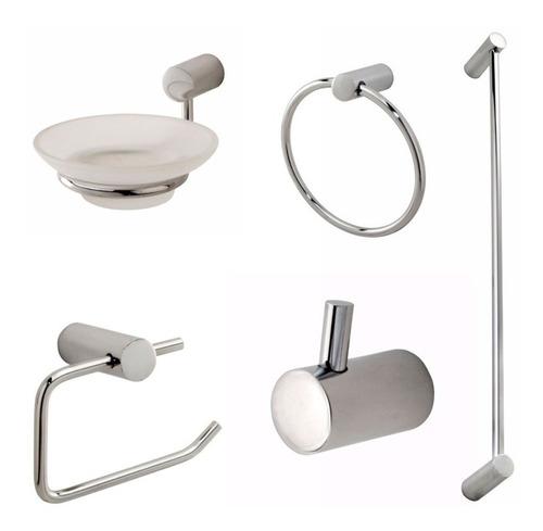 combo griferías hydros zen baño flor accesorios 5 completo