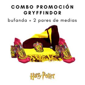 Combo Gryffindor / Harry Potter: Bufanda + 2 Pares De Medias