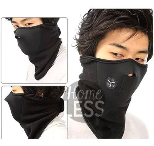 combo guante primera capa + mascara ciclismo neopren térmica