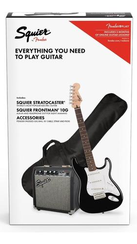 combo guitarra eléctrica fender squier stratocaster