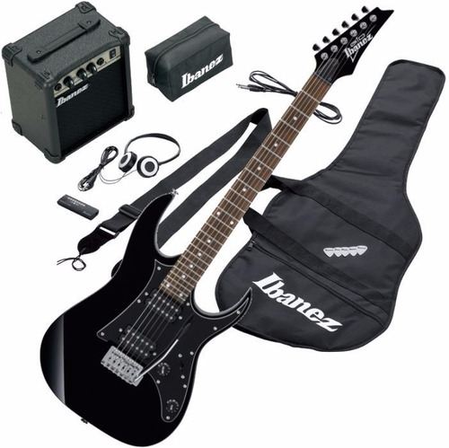 combo guitarra electrica ibanez profesional ijrg200n negra