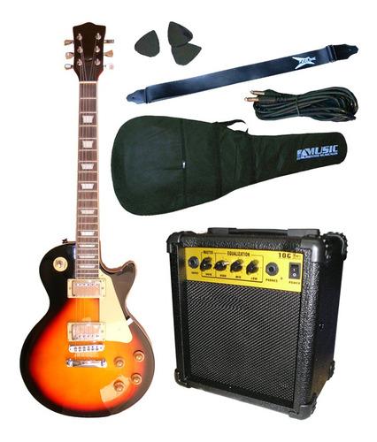 combo guitarra electrica les paul + amplificador crimson