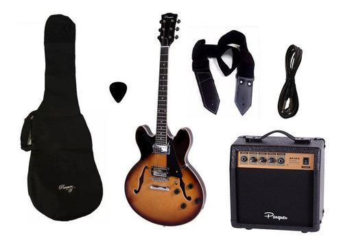 combo guitarra electrica parquer 335 sb amplificador 10w
