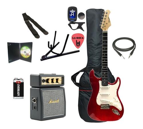 combo guitarra electrica parquer amplificador marshall - cuotas